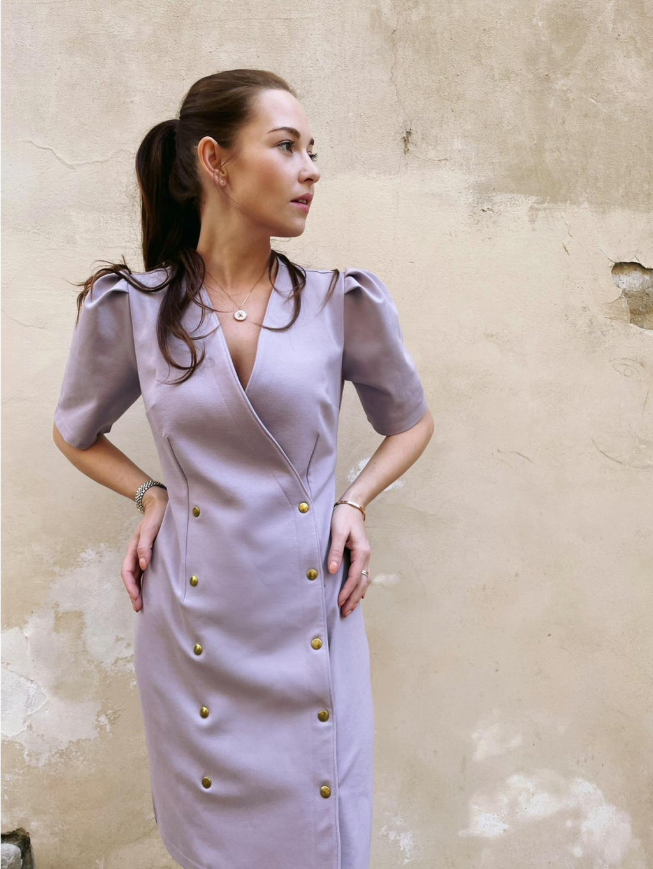 Šaty s nabíranými rukávy BEGONIA, PONER