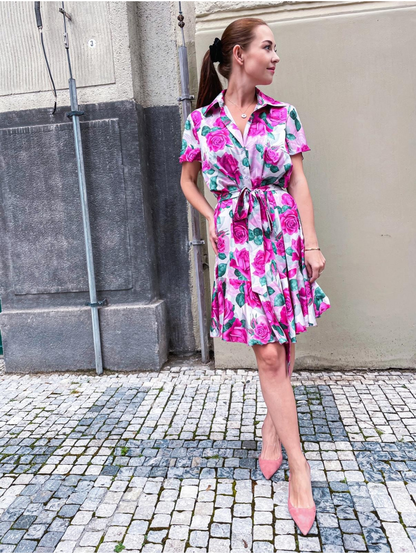 Košilové šaty ROSE