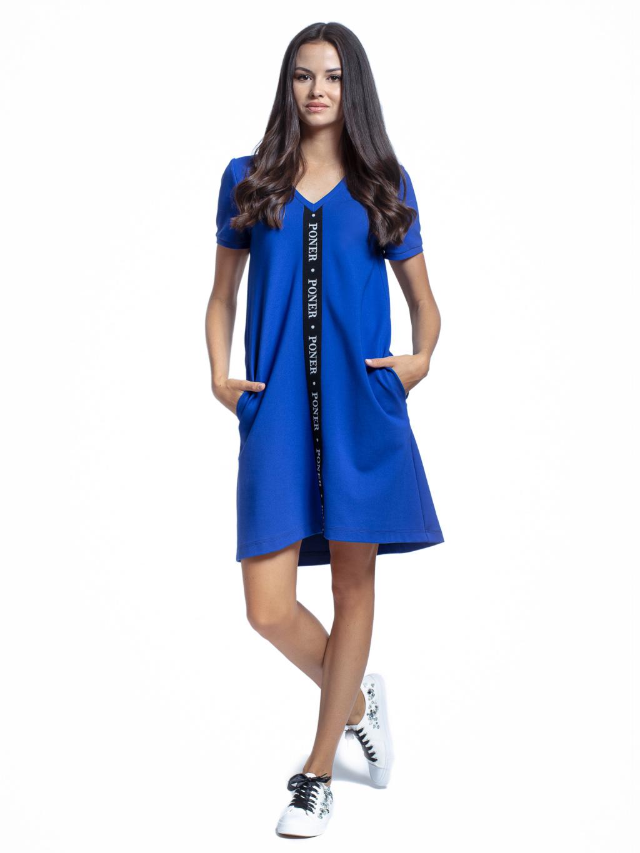 šaty s výstřihem a gumou PONER
