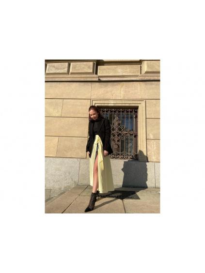 Zavinovací sukně žlutá