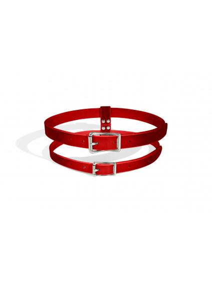 Dark red pásek