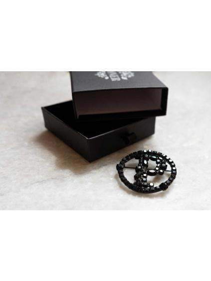 PONER brož černá