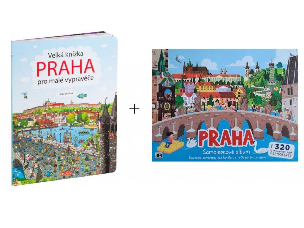 O Praze pro děti: První výlet do Prahy - leporelo o Praze + samolepky