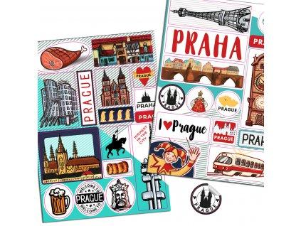 O Praze pro děti: Samolepky Praha