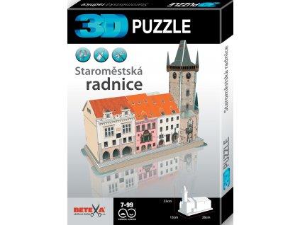 O Praze pro děti: 3D puzzle Staroměstská radnice
