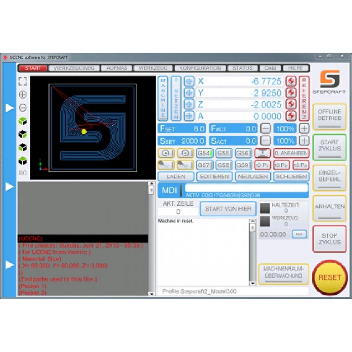 UCCNC řídící software