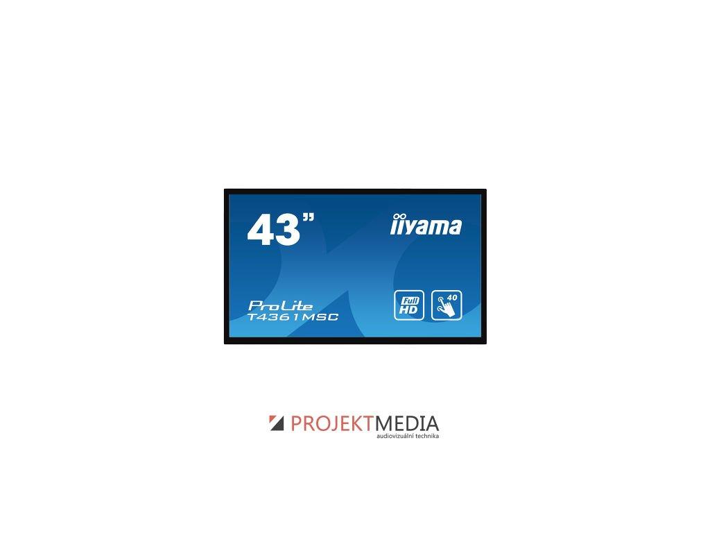 43''iiyama T4361MSC-B1: LED, FullHD, 400cd/m2, VGA, HDMI, DP, DVI, černý