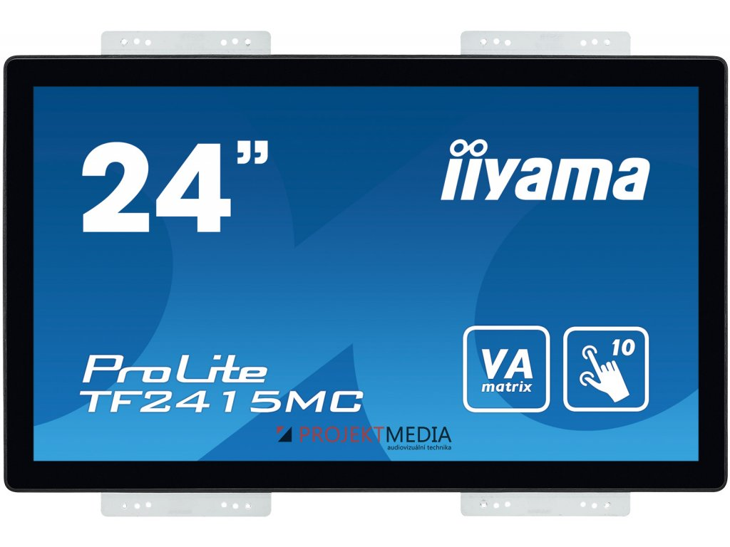 24'' iiyama TF2415MC-B2: VA, FullHD, capacitive, 10P, 350cd/m2, VGA, DP, HDMI, černý
