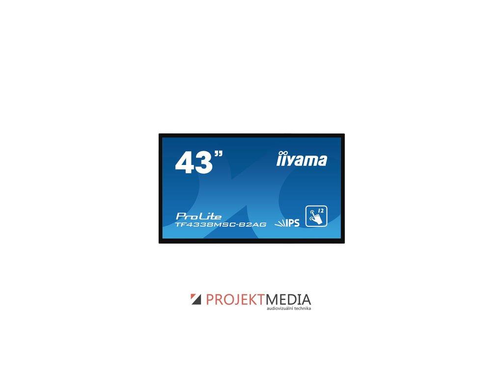 43'' iiyama TF4338MSC-B2AG:FullHD, capacitive, 450cd/m2, VGA, HDMI, DP, DVI, černý