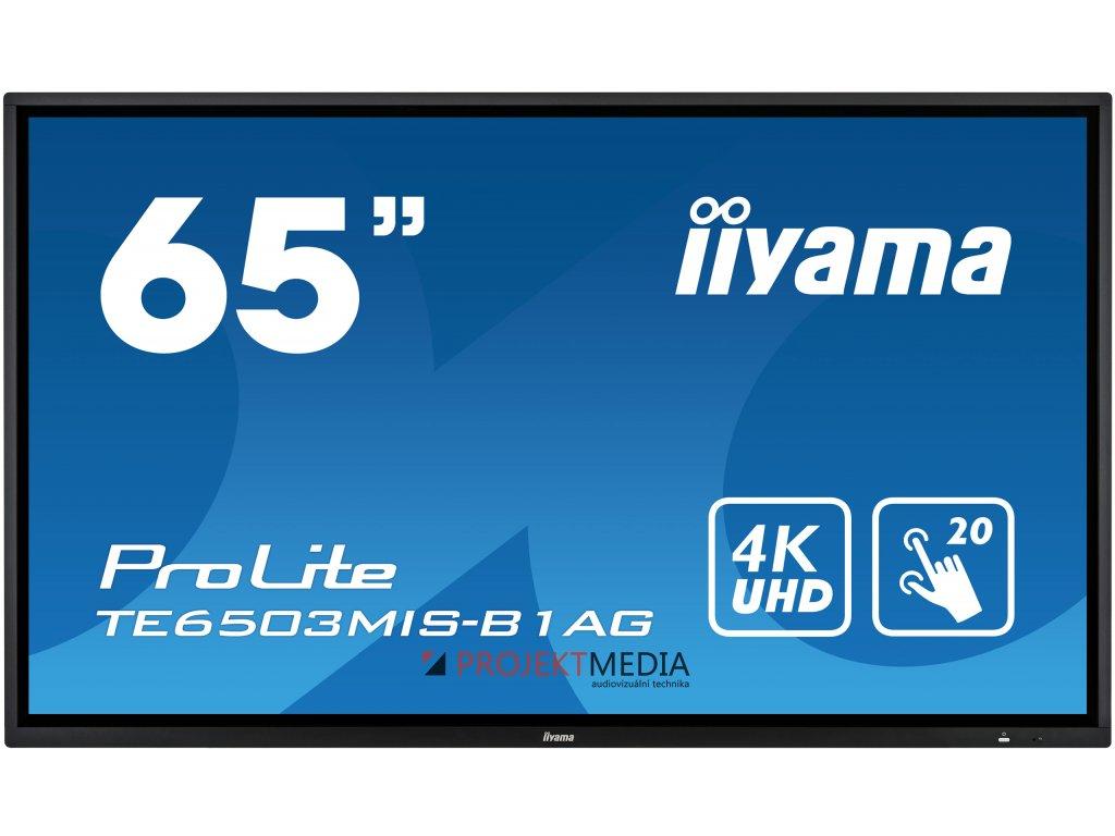 65'' iiyama TE6503MIS-B1AG: IPS, 4K, 350cd/m2, 24/7, iiSignage, WiFi, 2x Touch Pen, HDMI, VGA, DP,USB