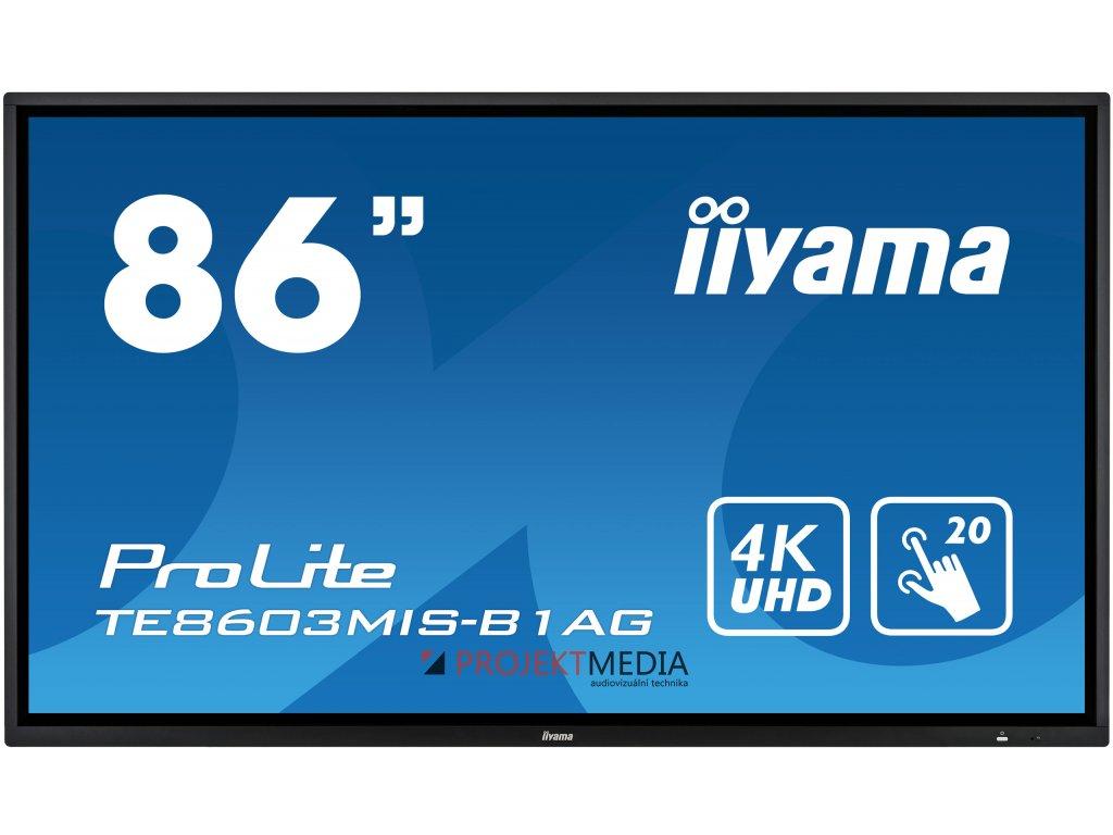 86'' iiyama TE8603MIS-B1AG: IPS, 4K, 350cd/m2, 24/7, iiSignage, WiFi, 2x Touch Pen, HDMI, VGA, DP,USB