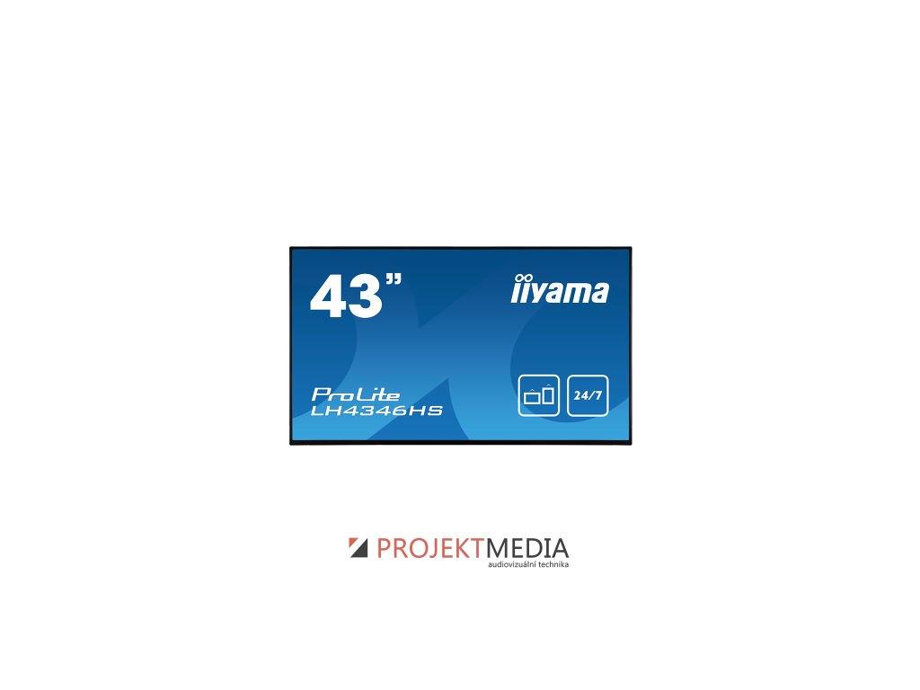 43'' iiyama LH4346HS-B1: IPS, FullHD, 450cd/m2, 24/7, VGA, HDMI, DP, RJ45, RS-232c, IR, USB, Android