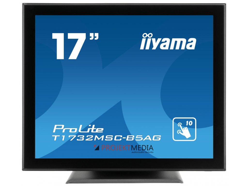 17'' iiyama T1732MSC-B5AG - TN,SXGA,5ms,250cd/m2, 1000:1,5:4,VGA,HDMI,DP,USB,repro.