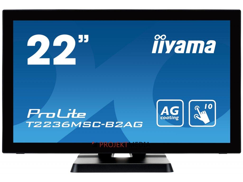 22'' LCD iiyama T2236MSC-B2AG - multidotekový, FullHD, AMVA, kapacitní, USB