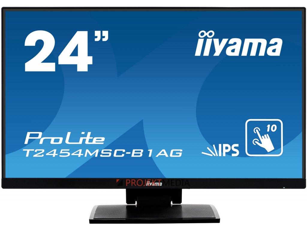 24'' iiyama T2454MSC-B1AG - IPS,FullHD,5ms,250cd/m2, 1000:1,16:9,VGA,HDMI,repro.