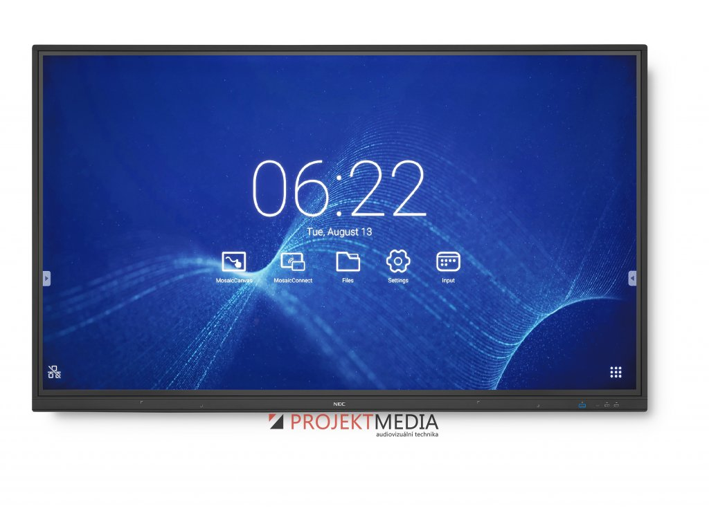 75'' LED NEC CB751Q,3840x2160,IPS,12/7,350cd,touch
