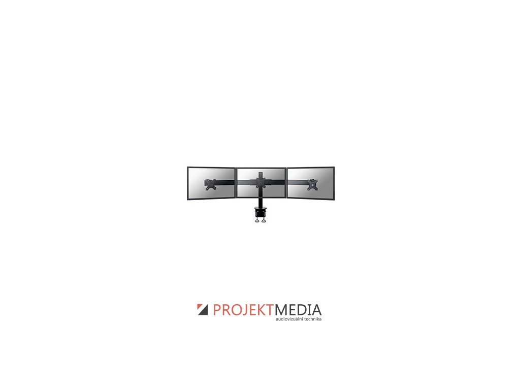 NewStar Flat Screen držák na 3 PC monitory 10-27'', 8 kg, VESA 75x75 nebo 100x100 mm, černý