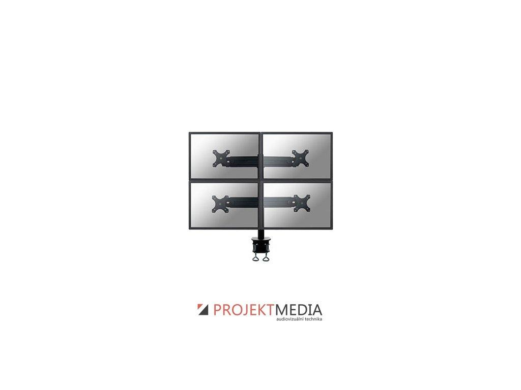 NewStar Flat Screen držák na 4 PC monitory 10-30'', 8kg, VESA 75x75 nebo 100x100 mm, černý