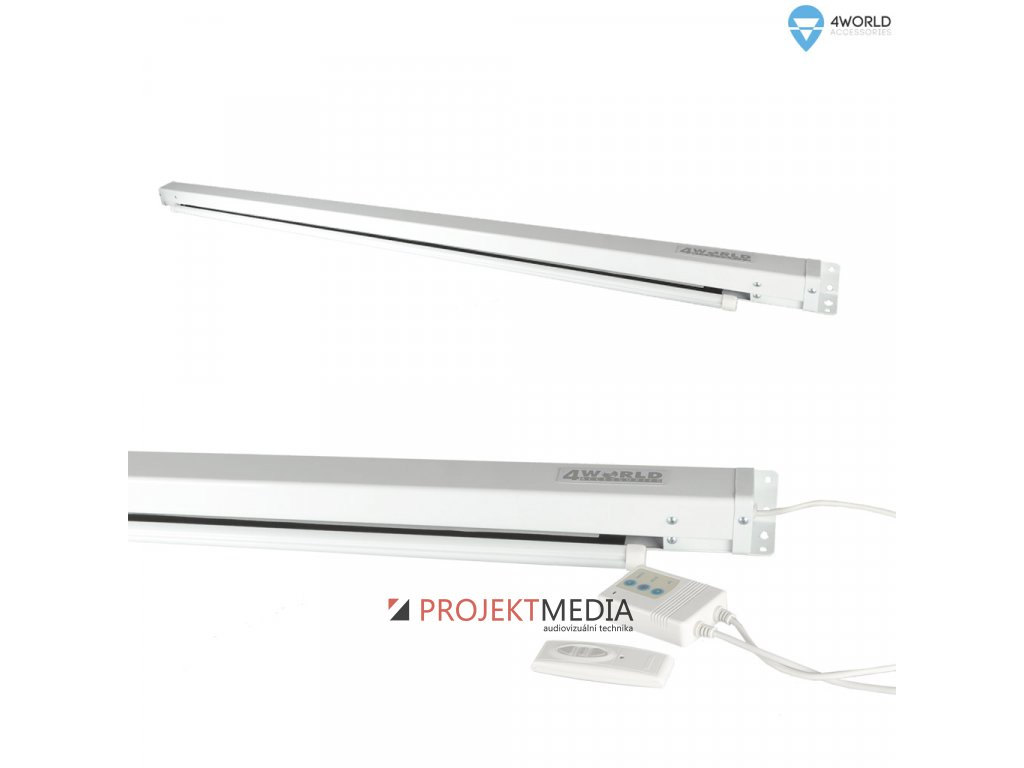 4World Projekční plátno elektrické DO 152x152 85'' 1:1