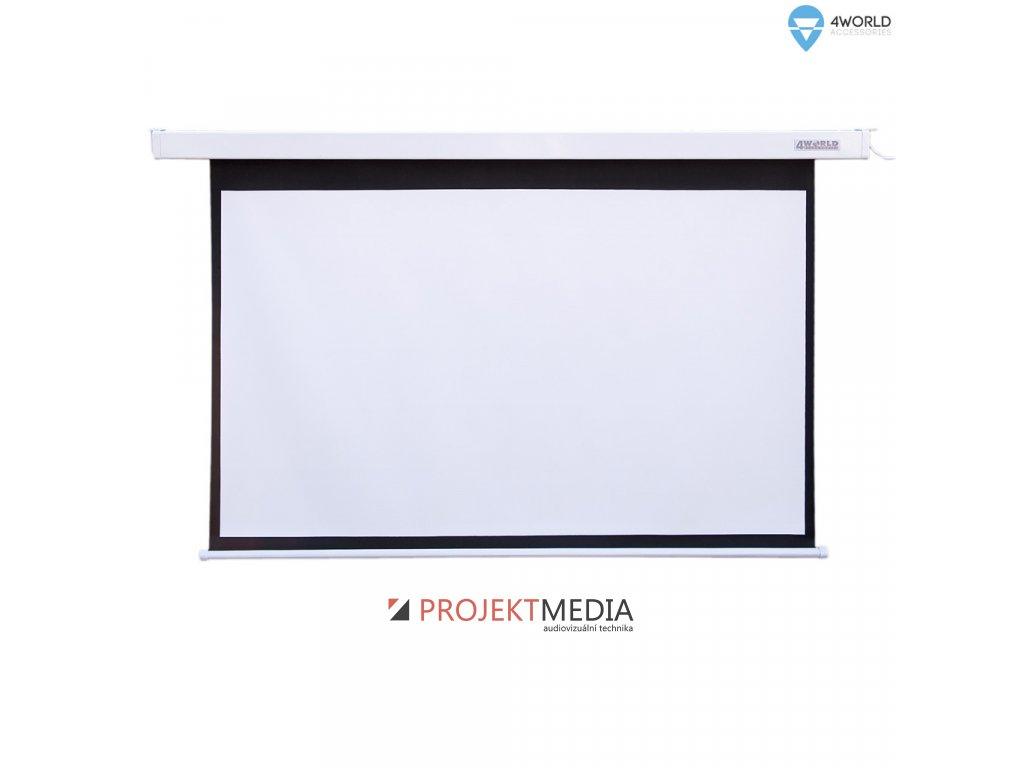 4World Projekční plátno elektrické DO 221x124 100'' 16:9