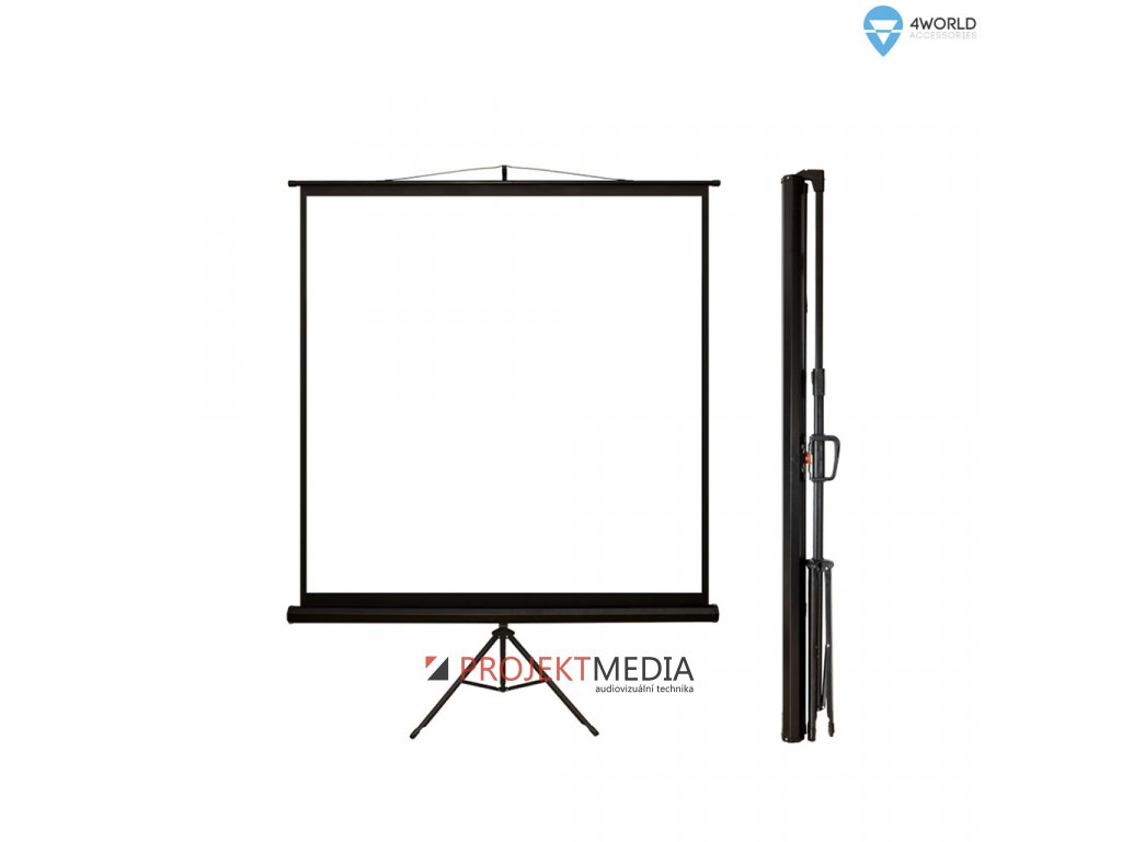 4World Projekční plátno přenosné 178x178 90'' 1:1
