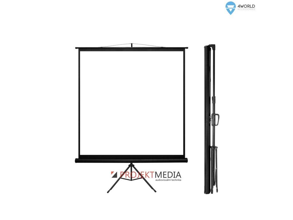4World Projekční plátno přenosné 200x200 112'' 1:1