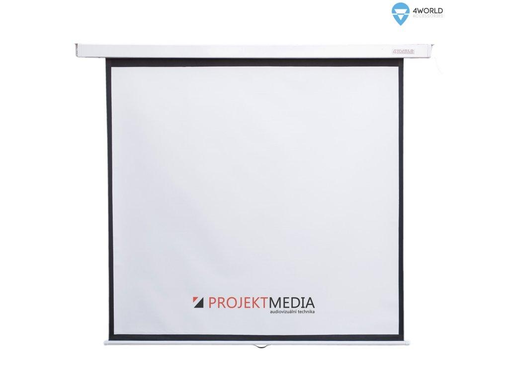 4World Projekční plátno manuální 200x200 112'' 1:1