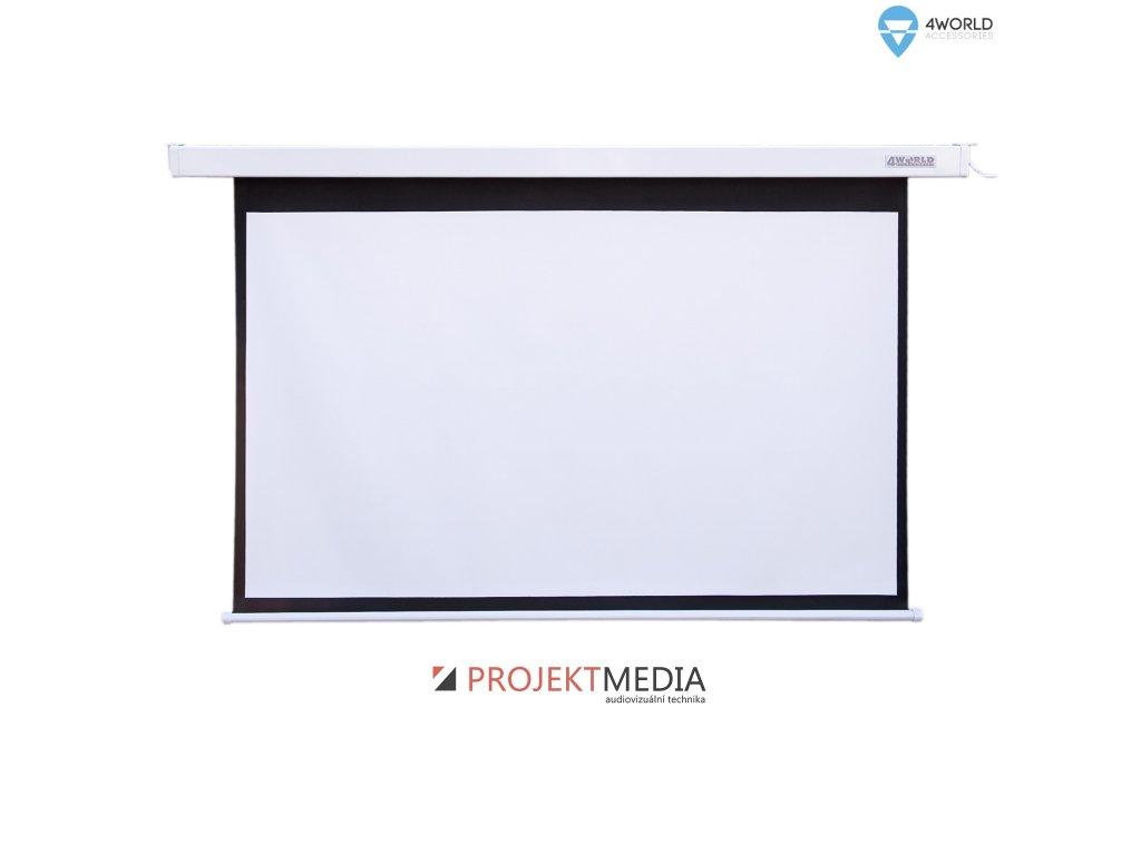 4World Projekční plátno elektrické DO 300x169 136'' 16:9