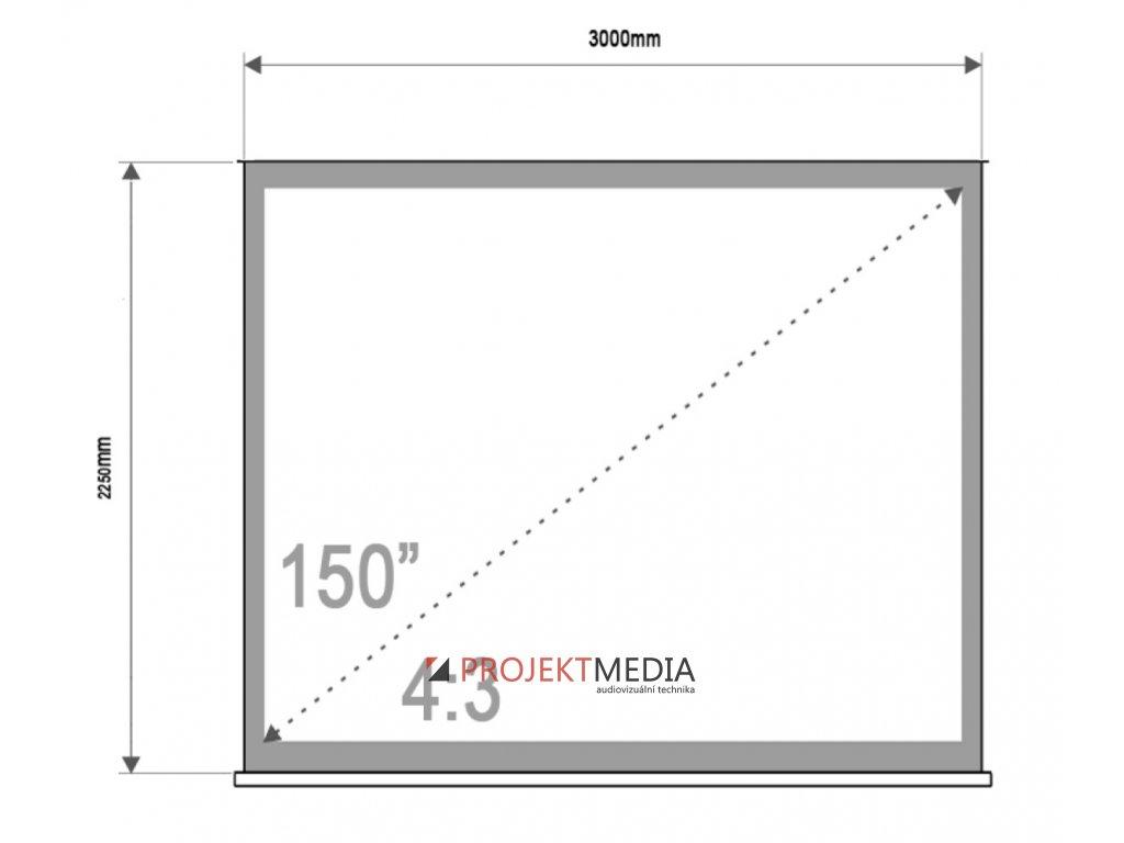 4World Projekční plátno přenosné 300x225 150'' 4:3