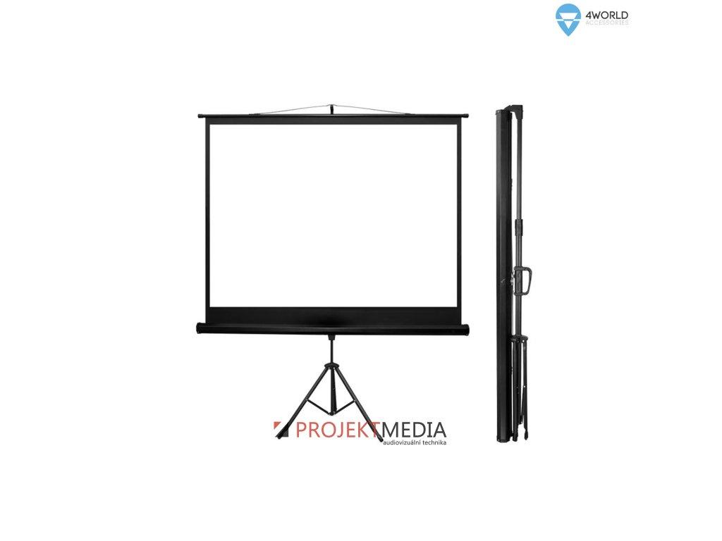 4World Projekční plátno přenosné automatické 122x92 60'' 4:3