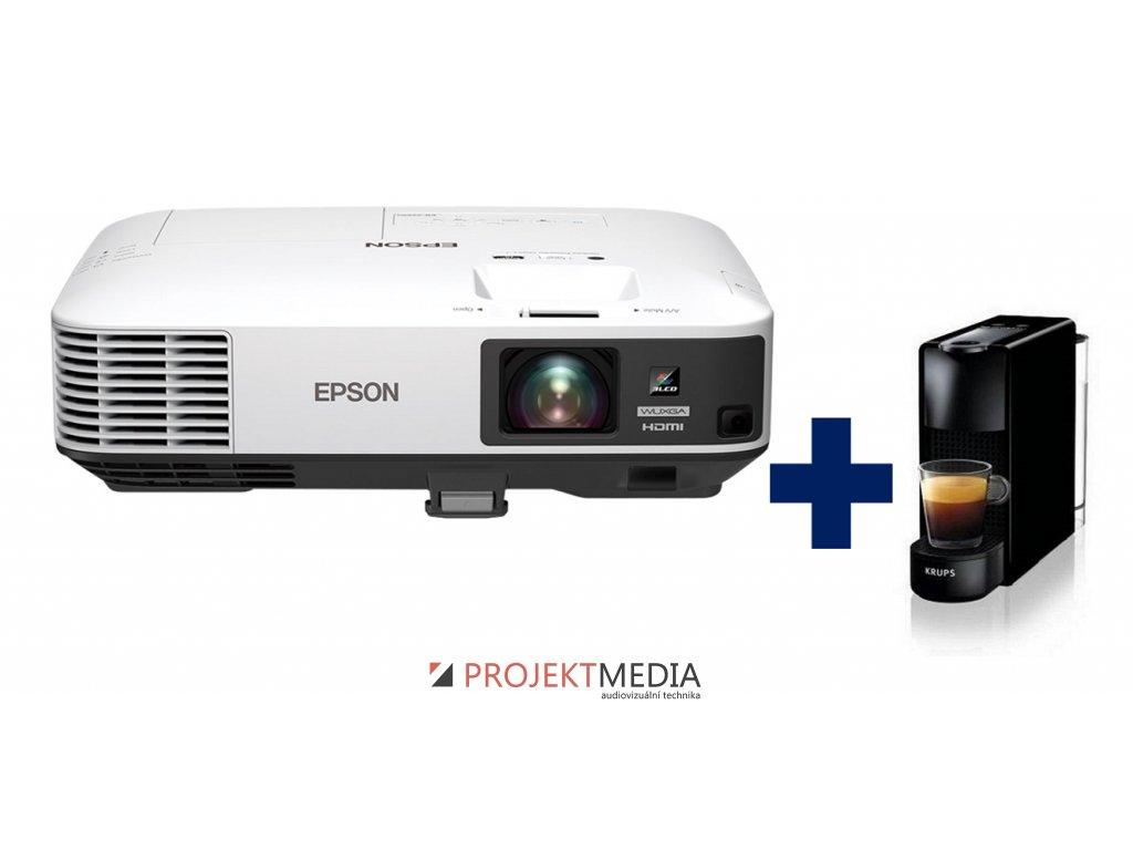 EPSON EB-2255U WUXGA 5000 Ansi 15000:1  + prodloužená záruka 60 měsíců + Krups Nespresso Essenza mini