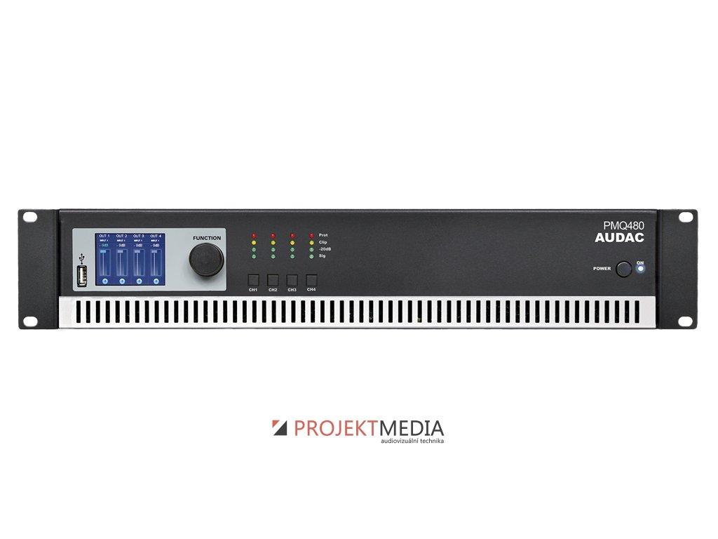 AUDAC PMQ480 Koncový zesilovač 4 x 480W RMS @ 100V, digitální topologie Class-D