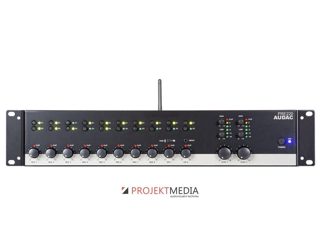 22946 audac pre220 stereofonni predzesilovac 10kanalovy 2zonovy