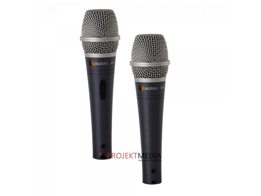 23000 audac m67 vokalni dynamicky dratovy mikrofon s vypinacem