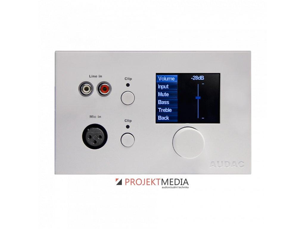 23084 audac dw5066 w ovladaci nastenny panel pro matici r2 bily