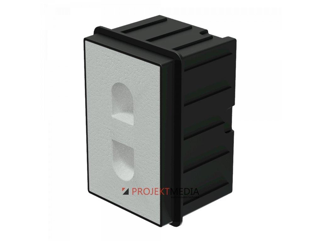 23345 audac wmm20 in wall box for mero2 for concrete brick wall