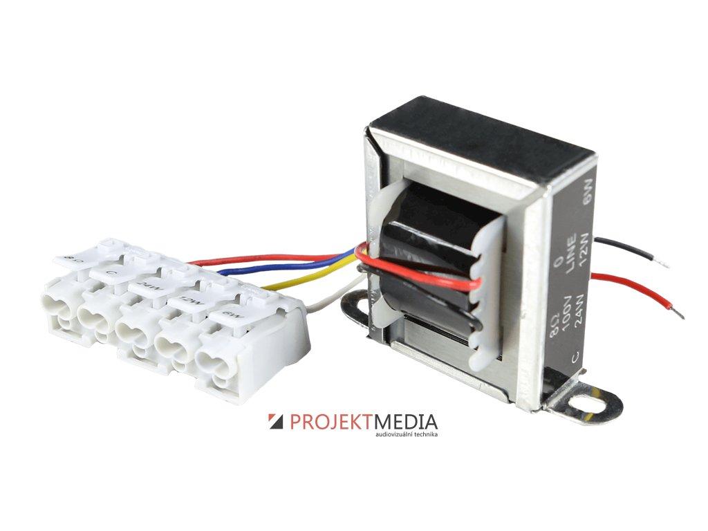 23810 audac tr1024f prevodni transformator 24w 100v s fastcon connection