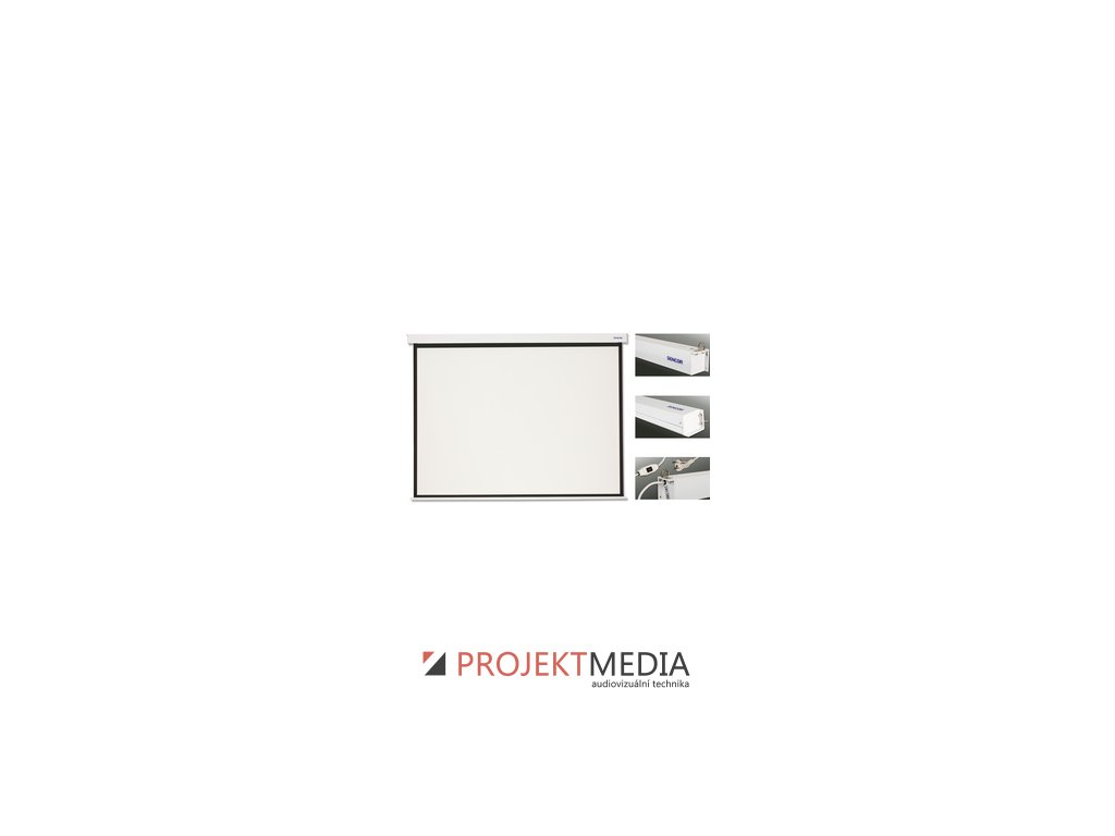 SES N203W projekční plátno el Sencor