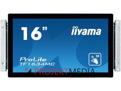 16'' iiyama TF1634MC-B6X: TN, HD, capacitive, 10P, 400cd/m2, VGA, DP, HDMI, černý
