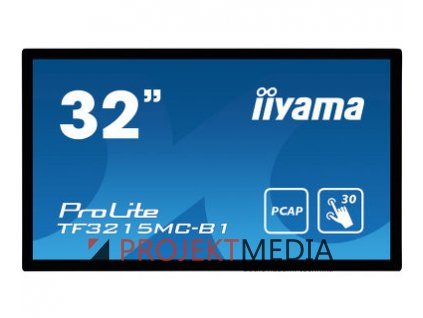 32'' iiyama TF3215MC-B1: FullHD, capacitive, 500cd/m2, VGA, HDMI, černý