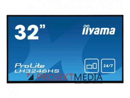 32'' iiyama LH3246HS-B1:IPS, FullHD, 400cd/m2, 24/7, VGA,HDMI,DP, DVI, RJ45, RS-232c, IR, USB,Android