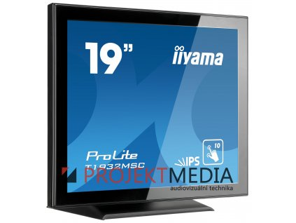 19'' iiyama T1932MSC-B5X - IPS, FullHD, 14ms, 250cd/m2, VGA, HDMI, DP,