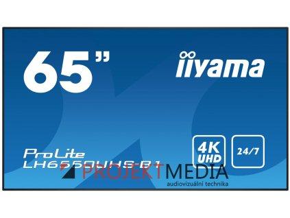 65'' iiyama LH6550UHS-B1 - AMVA3,4K UHD,8ms,450cd/m2, 4000:1,16:9,komponent.,HDMI,DP,USB,RS232,repro.