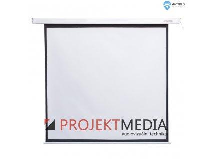 4World Projekční plátno elektrické 152x152 85'' 1:1