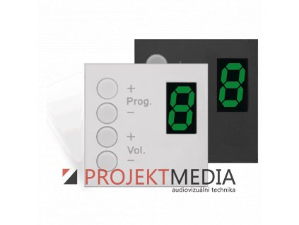 23075 audac dw3020 b nastenny ovladaci panel 45 x 45 mm cerny