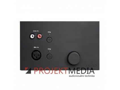 23591 audac wp523 b nastenny pripojny panel 1x vstup mic 1x vstup stereo rca cerny