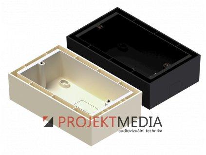 23939 audac wb50 b nastenna krabice na povrch cerna