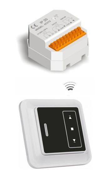 A-OK Bezdrátový jednokanálový nástěnný RC vysílač a přijímač