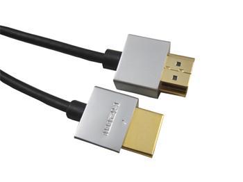 PremiumCord Slim Kabel HDMI+Ethernet, zlac., 1m kphdmes1