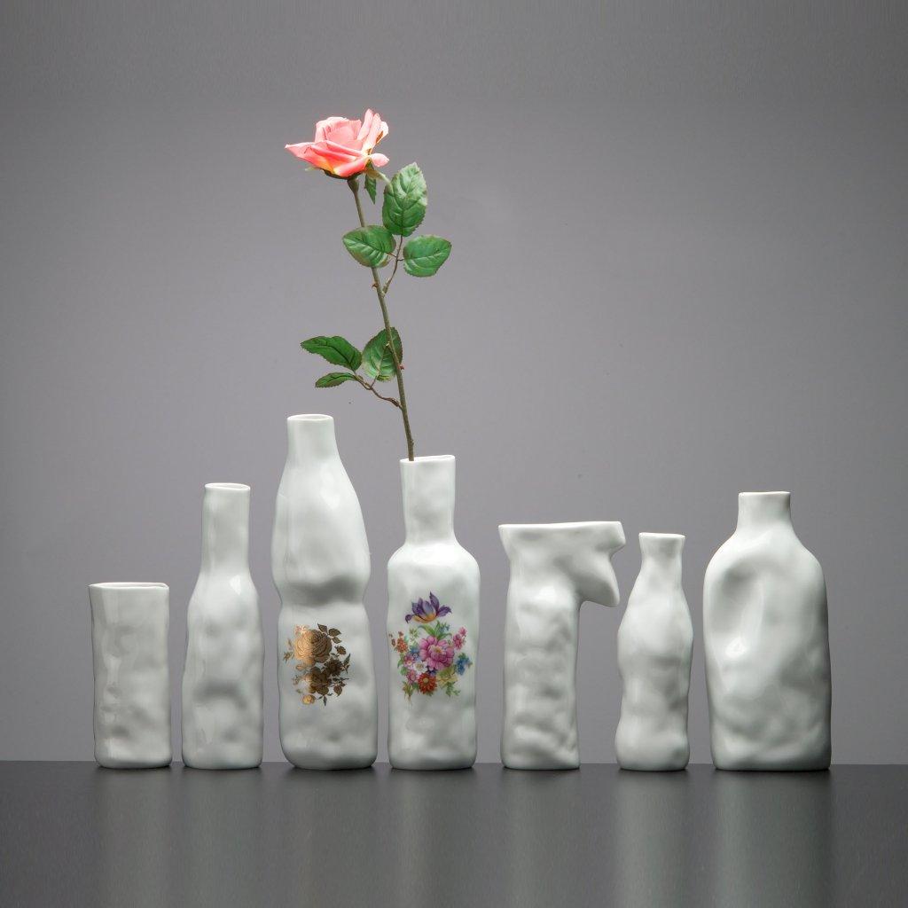 Porcelánová váza Abstract Vase Golden Flower pattern